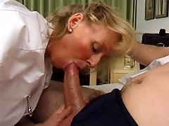 Mature Blonde Gives Irresistible Massages