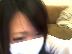 Japanese beauty mask girl masturbation