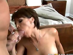 Redecorating Brunette MILF Kayla Synz Face and Pussy With a Big Dick