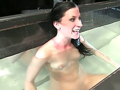 Brunette is bound, made to orgasm and fucked by a machine....