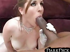 White Wife Fucked by Black Man lingerie gloves