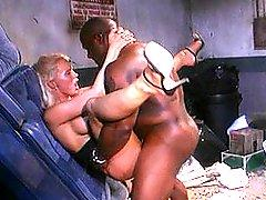 Classic Blond Pornstar Fucked In Alley