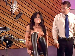 Exotic Kaylani Lei Gets Fucked Wearing Sex Purple Lingerie and Leather Boots