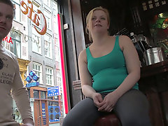 Horny dude from German gonna seduce a pregnant chick for sex outdoors