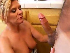 Hardcore housewife rides cock