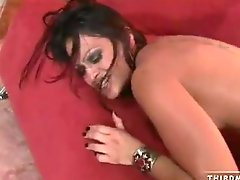 Breasty bitch Ava Lauren gets fucked hard from behind and gets facialised