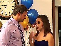 Kristina Rose follows her horny boss Rocco Reed to his place after getting horny at the party