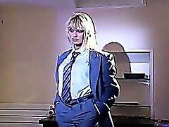 No sound: Anita Blond Sexy In Suit.