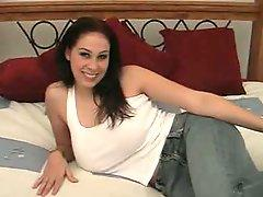 Gianna Michaels gives head and boobs fuck