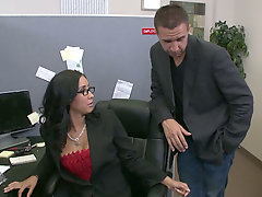 Voluptuous secretary Isis Love gets nailed after hard working day