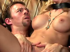 Cock sucking Riley Steele gets pussy banged hardcore and face jizzed