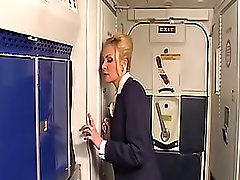 Sex story in the plane gets the stewardess sexcited