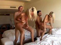 Hardcore foursome a big hotel room
