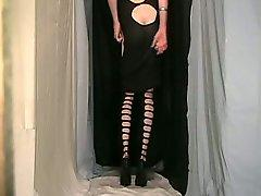 Crossdresser In Black Dress