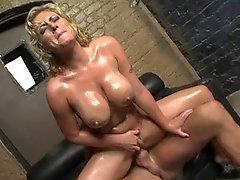 Busty golden-haired Velicity Von shouting during the time that riding on hard jock