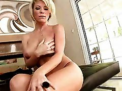 Hot busty blonde mature milf cougar kayla synz fucks for a c
