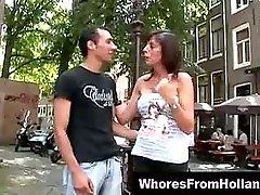 Horny guy with blonde dutch whore