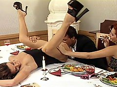 Dinner Turns To Hard Double Penetration