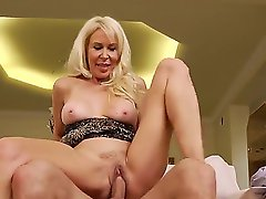 Here is the cool sex with horny milf Erica Lauren that you shouldnt miss a chance of watching. Horny dude with big penis Mr. Pete is pushing his fat rod into her twat.