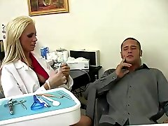 Bigtitted Dentist Tanya James Cures Danny Mountain inside Her Own Way