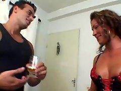 Beautifull tanned woman who cheats her husband