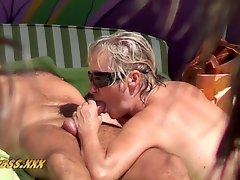 Beach voyeur, mature couples have sex 2