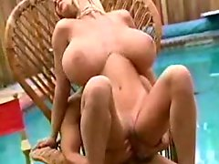 HUGE Tit Blonde Does the Pool Boy
