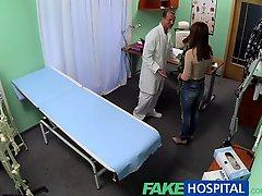 FakeHospital Sweet Doctor gives Valentines flowers to hot patient
