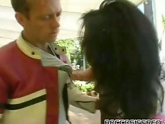 Famous pussy licker Rocco Siffredi gives great rimjob to one lustful chick
