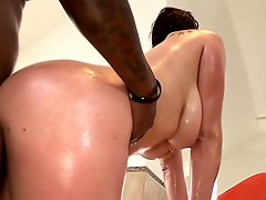 Gianna Michaels Oily Interracial