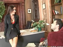 Sexy Personal Trainer Jessica Jaymes Fucks Her Husbands Assistant