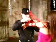 Missy Stone in a corset has hot dungeon sex