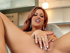 Gorgeous babe with an awesome body Jayden Cole is masturbating her wet pussy