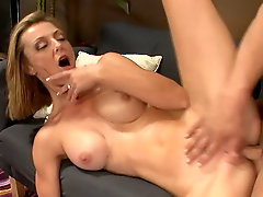 Busty blonde Brenda James gets fucked hard in various positions