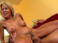 Student guy Chris Johnson attacked and seduced by his friends super horny blonde mom Erica Lauren