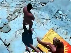 Exposed Brutal wife swapping on beach