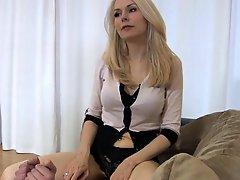 Mistress plays with him