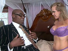 Horny milf Dyanna Lauren needs a black cock cure from sexy stud Sean Michaels!