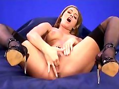 Sexy babe Clara Morgane finger fucks her juicy snatch then has lesbian action