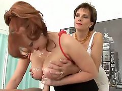 Hot women handjob and titjobs for him