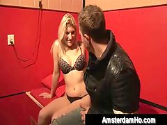 Hot Amsterdam slut gets paid to fuck a Swiss tourist