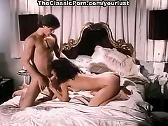 Passionate lovers Laurie Smith, Marc Wallice in xxx classic porn video
