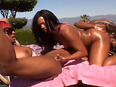 Three Sexy Black Lesbians Lick And Fuck