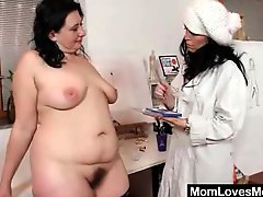Lesbian mature body paint play video