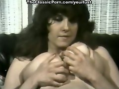 Vintage porn models Becky Savage, Busty Belle, Candy Samples show off their gigantic knockers