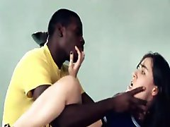 Tender college chick gets a brutal banging from a black hunk