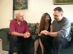 Brown haired beauty is fucking the other dude in front of her husband