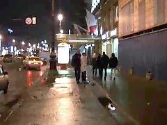 Real prostitute blows in Saint Petersburg street