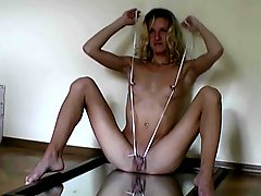 Pierced girl can fist her pussy