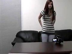 Cute girl casting session with BJ and fuck